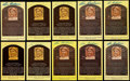 Autographs:Post Cards, Lou Boudreau Signed Hall of Fame Plaque Postcard Collection (10)....