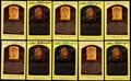 Autographs:Post Cards, Charlie Gehringer Signed Hall of Fame Plaque Postcard Collection (10)....