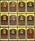 Autographs:Post Cards, Baseball Hall of Famers Signed Plaque Postcards Lot of 24....