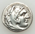 Ancients:Greek, Ancients: MACEDONIAN KINGDOM. Alexander III the Great (336-323 BC).AR drachm (4.17 gm). Choice VF....