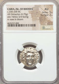 Ancients:Greek, Ancients: CARIAN ISLANDS. Rhodes. Ca. 250-200 BC. AR didrachm (6.75gm). NGC AU 5/5 - 3/5. ...