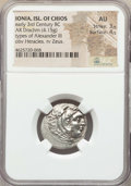 Ancients:Greek, Ancients: IONIAN ISLANDS. Chios. Ca. early 3rd century BC. ARdrachm (4.15 gm). NGC AU3/5 - 4/5....