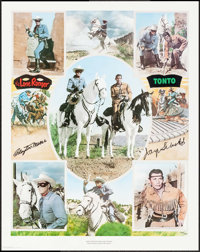 """The Lone Ranger and Tonto (Nostalgia Merchant, 1977). Signed and Numbered Limited Edition Print (23.75"""" X 30"""")..."""