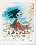 """Movie Posters:Serial, Stars of Republic Pictures (Nostalgia Merchant, 1977). Autographed Poster (24"""" X 30""""). Serial.. ..."""
