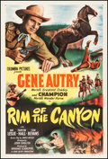 """Movie Posters:Western, Rim of the Canyon (Columbia, 1949). One Sheet (27"""" X 41""""). Western.. ..."""