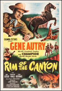 """Rim of the Canyon (Columbia, 1949). One Sheet (27"""" X 41""""). Western"""