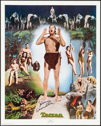 """Johnny Weissmuller as Tarzan Limited Edition Print (Nostalgia Merchant, 1977). Autographed Poster (24"""" X 30"""")..."""