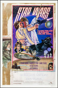 """Star Wars (20th Century Fox, 1978). Autographed Studio One Sheet (27"""" X 41"""") Style D, Charles White III &..."""