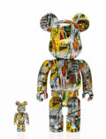 Fine Art - Sculpture, American:Contemporary (1950 to present), BE@RBRICK X The Estate of Jean-Michel Basquiat. Jean-MichelBasquiat 100% and 400% (two works), 2017. Painted cast vinyl...