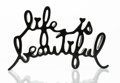 Fine Art - Sculpture, American:Contemporary (1950 to present), Mr. Brainwash (French, b. 1966). Life is Beautiful (Black),2015. Cast resin, with thermal coated. 8-3/4 x 5-1/2 x 1-1/2...