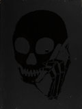 Fine Art - Painting, American:Contemporary   (1950 to present)  , Skullphone (American, 20th Century). Untitled (Black onblack), 2005. Acrylic with stencil on panel. 32 x 24 inches(81....