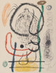 Joan Miró (Spanish, 1893-1983) Pl. 5, from Album 21, 1978 Lithograph in colors on Arches paper 25-1/2 x 19-1/2 in...