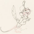 Animation Art:Production Drawing, Dumbo Timothy Mouse Animation Drawing (Walt Disney,1941)....