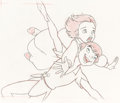 Animation Art:Production Drawing, Return to Never Land Jane and Peter Animation Drawing (Walt Disney, 2002)....