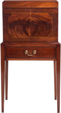 Furniture , A Henkel Harris Hepplewhite-Style Mahogany Silver Chest on Stand, mid-20th century. 40-1/2 h x 21-1/4 w x 15-3/4 d inches (1... (Total: 2 Items)