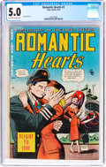 Golden Age (1938-1955):Romance, Romantic Hearts #2 (Story Comics, 1951) CGC VG/FN 5.0 Off-white towhite pages....