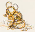 Animation Art:Production Drawing, Fantasia Mickey Mouse as the Sorcerer's Apprentice Rough Animation Drawing (Walt Disney, 1940)....
