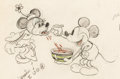 Animation Art:Production Drawing, The Klondike Kid Mickey Mouse and Minnie Mouse Animation Drawing (Walt Disney, 1932)....
