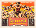 """Movie Posters:Adventure, Goliath and the Barbarians (American International, 1959). Half Sheet (22"""" X 28""""). Adventure.. ..."""