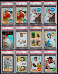 Baseball Cards:Lots, 1960's -1970's Baseball Stars & HoFers PSA-Graded Collection (12). ...