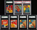 Non-Sport Cards:Lots, 1934 National Chicle Sky Birds (Set of 144) Graded Collection (7)....