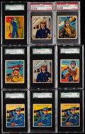 Non-Sport Cards:Lots, 1934 National Chicle Sky Birds (Set of 48) Graded Collection (9)....