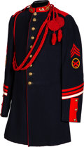 Military & Patriotic:Indian Wars, Coast Artillery 9-button Dress Coat with Unusual Transitional Feature....