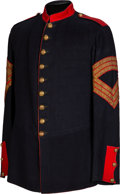 Military & Patriotic:Indian Wars, 1885 Mounted Dress Coat for a Sergeant of Light Artillery....