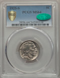 Buffalo Nickels, 1925-S 5C MS64 PCGS Secure. CAC....
