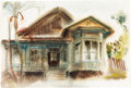 "Animation Art:Production Drawing, Retta Scott ""Old House"" Painting (c. 1950s-60s). ..."