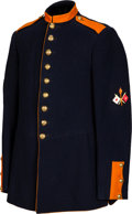 Military & Patriotic:Indian Wars, 1885 9-Button Dress Signal Corps Dress Coat....