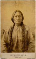 Military & Patriotic:Indian Wars, Sitting Bull: An Early 1885-dated Cabinet Photo by D. F. Barry....