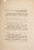 Military & Patriotic:Indian Wars, Frederick Benteen: Official Government Report of His 1887 CourtMartial for Drunkenness. ...