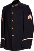 Military & Patriotic:Indian Wars, Rare 1902 Indian Scouts Uniform - Coat, Trousers, and Cap....(Total: 3 Items)
