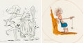 Animation Art:Concept Art, Captain Caveman and the Teen Angels Character DevelopmentArt Group of 2 (Hanna-Barbera, 1977).... (Total: 2 Original Art)
