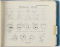 animation art:Model Sheet, Disney Characters Master Publications Style Guide Book (WaltDisney, 1971)....