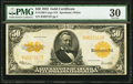 Large Size:Gold Certificates, Fr. 1200 $50 1922 Gold Certificate PMG Very Fine 30.
