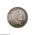 Proof Barber Quarters: , 1912 25C PR68 NGC. In addition to this specimen's peerless reflective surfaces, both sides are endowed with an enticing ble...