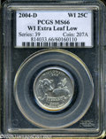 Statehood Quarters: , 2004-D 25C Wisconsin Extra Leaf Low MS66 PCGS. The recentlydiscovered extra leaf variety, in this case an extra low leaf (...