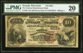 National Bank Notes:Wisconsin, Neenah, WI - $10 1882 Brown Back Fr. 490 The National Manufacturers Bank Ch. # (M)6034. ...