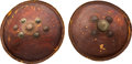 Militaria:Armor, Pair of Indian Dhal Hide Shields.... (Total: 2 Items)