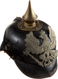 Militaria:Helmets, WWI Prussian Model 1915 Enlisted Spike Helmet (Pickelhaube)....