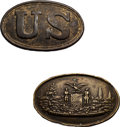 Military & Patriotic:Civil War, Rare State of Maryland Waist Belt Plate Found on Property in Sharpsburg, Maryland.... (Total: 2 Items)