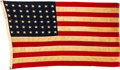 "Military & Patriotic:WWII, Battle Damaged U.S. Flag Flown on PT-520 ""Coral Queen"" During the Invasion of France, June 6 Through August 25, 1944 Belonging..."
