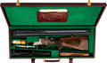 Long Guns:Other, Cased Krieghoff Model Trumpf-Dr Custom Grade V Double Rifle Boxlock Drilling.... (Total: 2 Items)