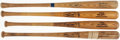 Baseball Collectibles:Bats, Game Used Bat Lot of 4 with Downing, Epstein, Johnson, & Savage.. ...