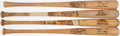Baseball Collectibles:Bats, Game Used Bat Lot of 4 with Cowens, Patek, Poquette, & Solaita.. ...