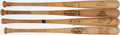 Baseball Collectibles:Bats, Game Used Bat Lot of 4 with Barranca, Keough, Martinez, & Schaal.. ...