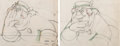 Animation Art:Production Drawing, Pinocchio Coachman Animation Drawings Group of 2 (WaltDisney, 1940).... (Total: 2 Items)