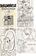 Animation Art:Production Drawing, Bullwinkle Coloring Book Illustration Art Group of 4 (JayWard, c. 1960s).... (Total: 4 Items)